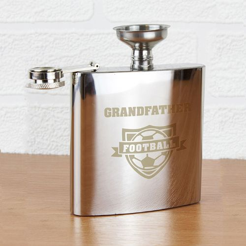 Personalised Football Hip Flask